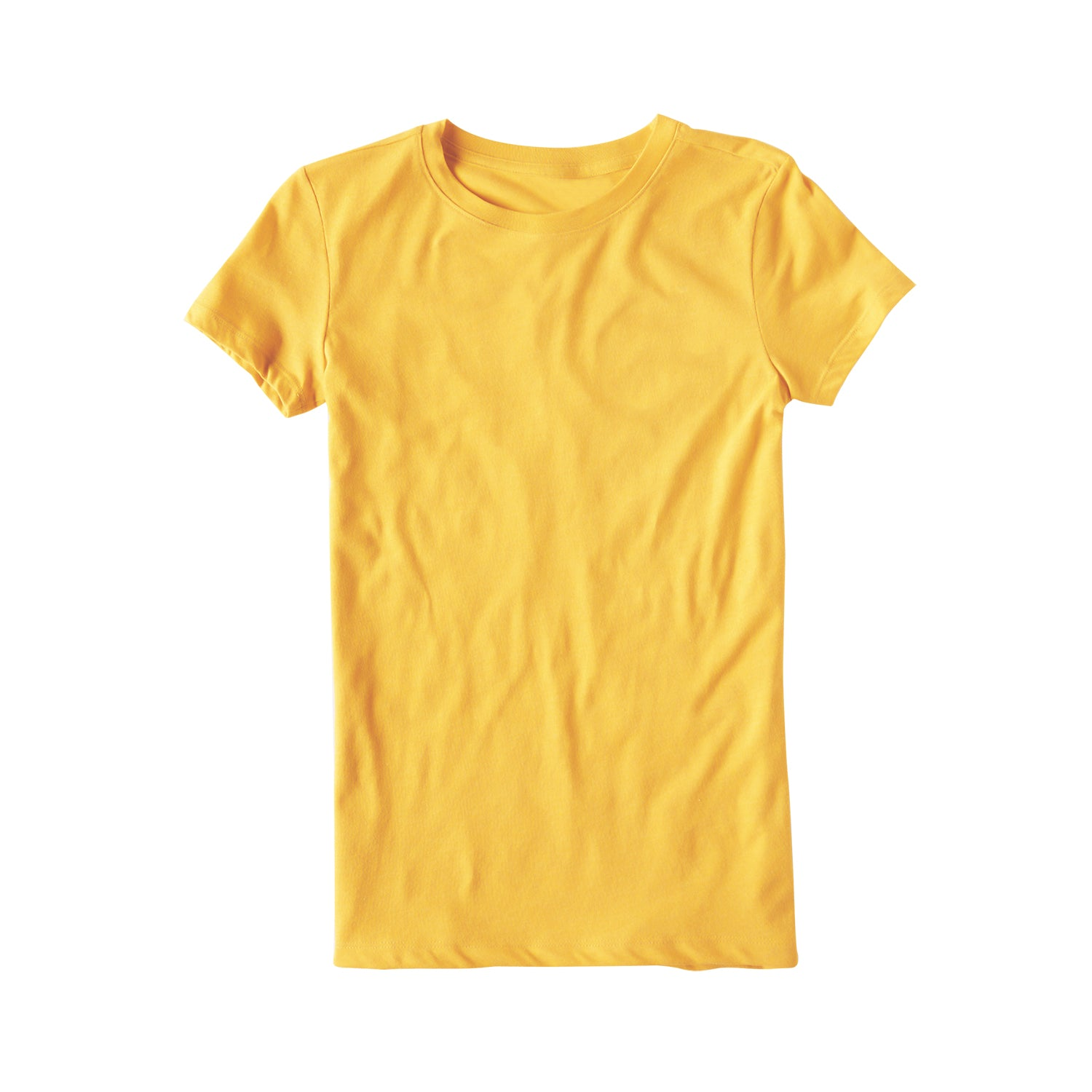 Popular Sport Single Jersey Crew Neck Tee Shirt For Women-Yellow-BE9685