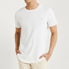 Popular Sport Single Jersey Tee Shirt For Men-White-BE9686