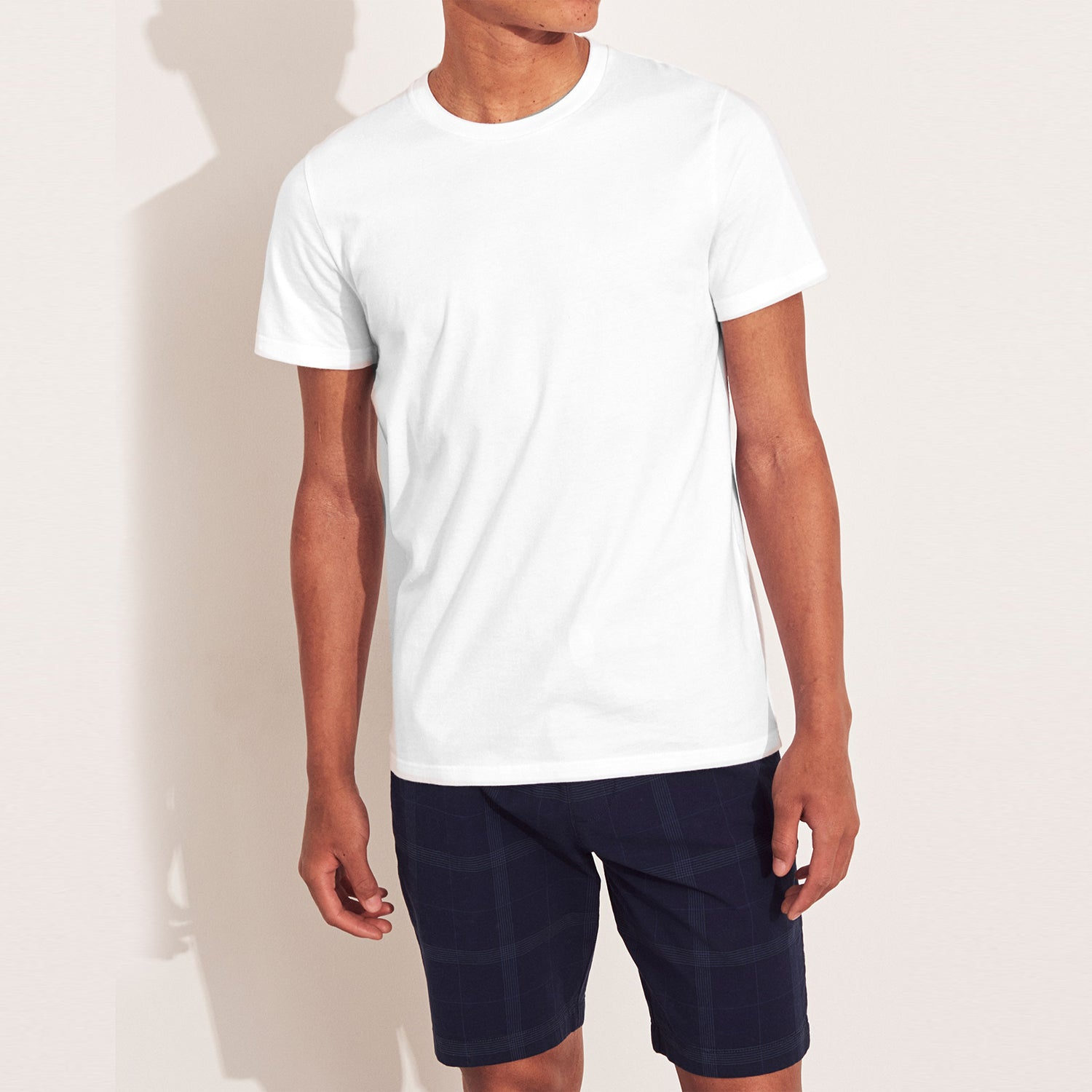Popular Sport Single Jersey Tee Shirt For Men-White-BE9687