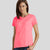 Popular Sport Viscose Crew Neck Tee Shirt For Women-Light Pink-BE12184