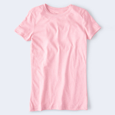 brandsego - Popular Sport Viscose Crew Neck Tee Shirt For Women-Light Pink-BE9660