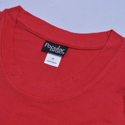 brandsego - Popular Sport Viscose Crew Neck Tee Shirt For Women-Red-BE9659