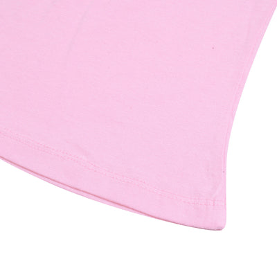 brandsego - Popular Sports Single Jersey Crew Neck Tee Shirt For Women-Light Pink-BE9633