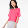 Popular Sports Viscose Crew Neck Crop Top For Women-Light Pink-BE9704