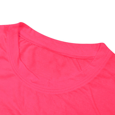 brandsego - Popular Sports Viscose Crew Neck Crop Top For Women-Light Pink-BE9704