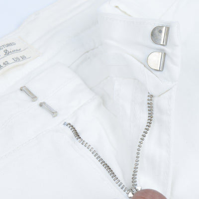 Premium Chino Short For Ladies-White-BE7073