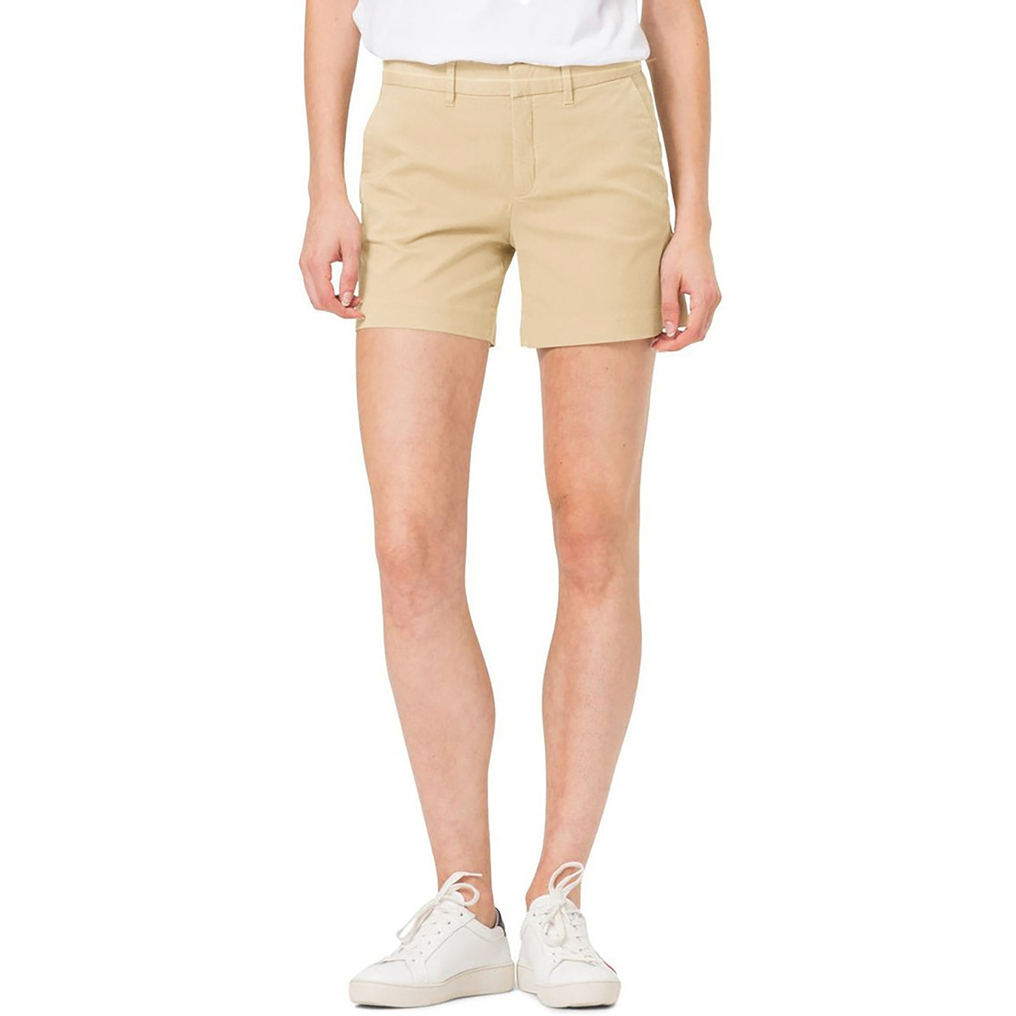 brandsego - Premium Chino Short For Ladies-Khaki-BE7068