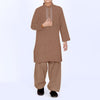 Premium Kurta & Shalwar For Boys-Brown-BE6920