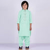 Premium Kurta & Shalwar For Boys-Light Sea Green-BE8327