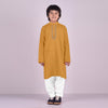 Premium Kurta & Shalwar For Boys-Mustard-BE6929