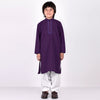 Premium Kurta & Shalwar For Boys-Purple & White-BE6934