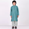 Premium Kurta & Shalwar For Boys-Sea Green-BE6936