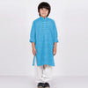 Premium Kurta & Shalwar For Boys-Sky with White-BE6938