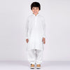 Premium Kurta & Shalwar For Boys-White Embroidery-BE6935