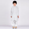 Premium Kurta & Shalwar For Boys-White Embroidery-BE6937