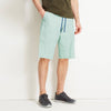 Premium Quality Woven Cotton 3 Quarter Cargo Short For Men-Light Cyan Green-BE8665