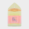 Premium Zipper Hooded Blanket For Kid-Pink with Yellow-BE6792