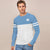 Press Box Single Jersey Long Sleeve Shirt For Men-Sky & White-BE5911