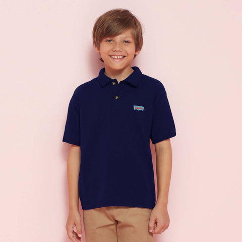 Basic Polo Shirts For Kids-Dark Purple-BE998