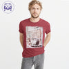 Classic Camper Crew Neck Tee Shirt For Men-Light Red-NA831