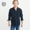 brandsego - Bushirt Patloon Twill 12 Casual Shirt For Men-Plain-NA1133