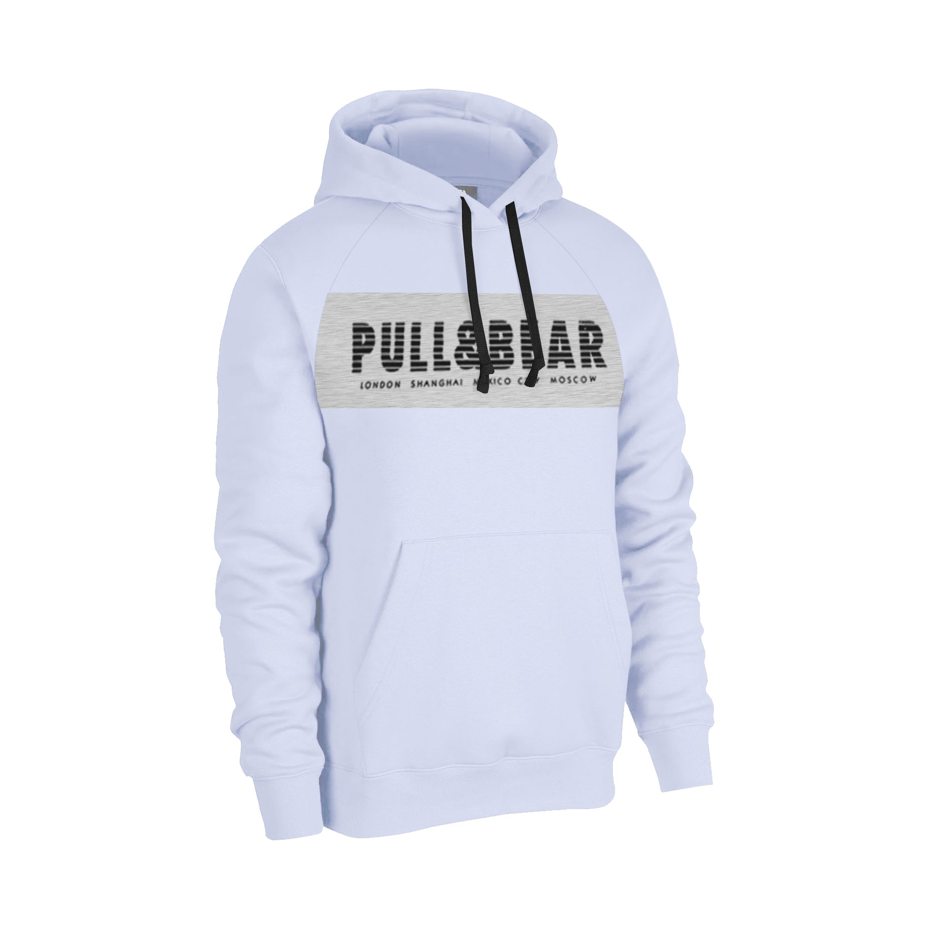 P&B Fleece Pullover Hoodie For Men-Light Purple With Grey Melange Panel-BE13866