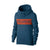 P&B Fleece Pullover Hoodie For Men-Mid Navy with Orange Panel-BE13826