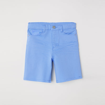 PUSH Stretch Denim Short For Boys-Sky-BE7287