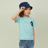 brandsego - Gap Half Sleeve Single Jersey Tee Shirt For Kids-Light Cyan With Melange-SP303