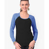 Rag Wear-Full-Sleeve-Ladies-Blouse-Dark Grey & Blue-BE4880