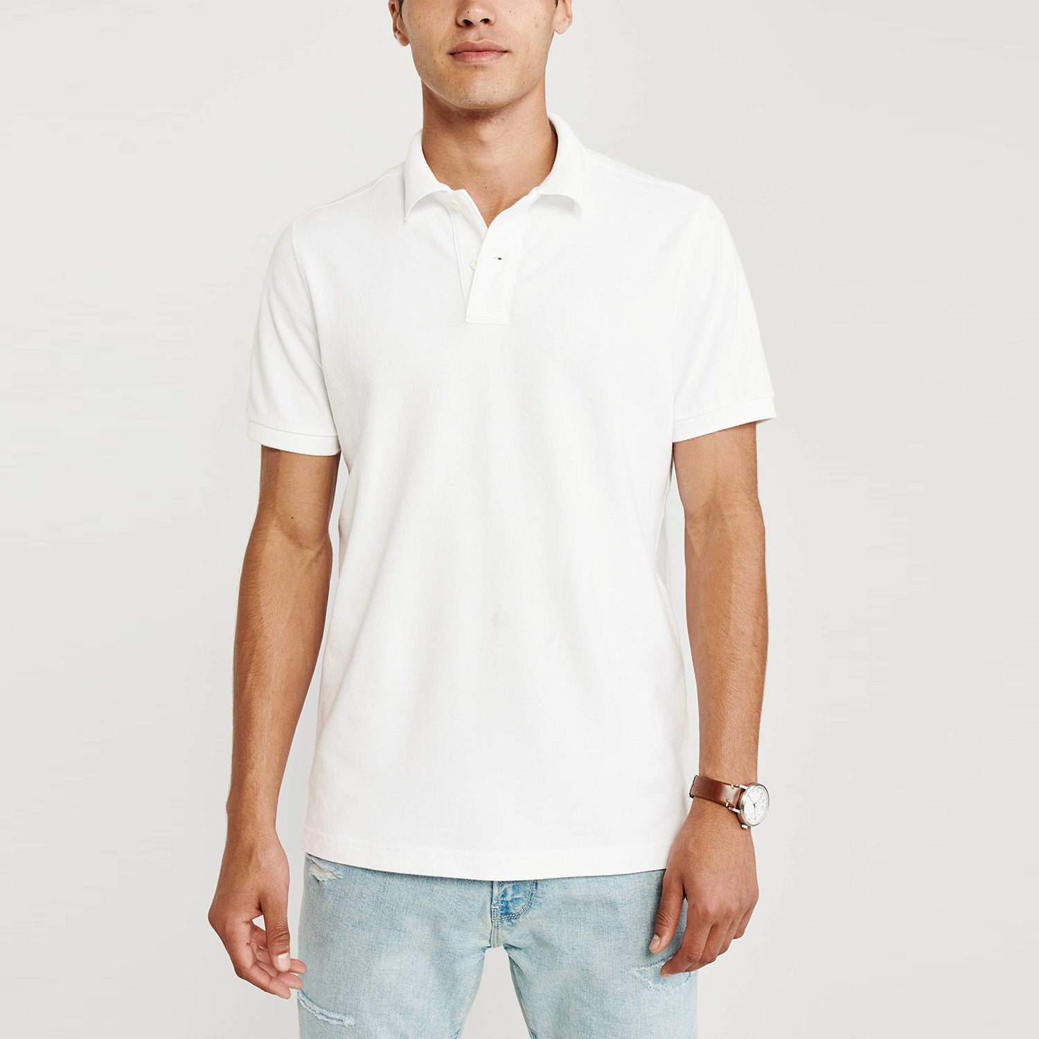Falls Creek Stylish Summer Polo Shirt For Men-White-BE11549