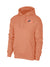 NK Terry Fleece Raglan Sleeve Pullover Hoodie For Men-Peach With Dark Navy Embroidery-SP4138