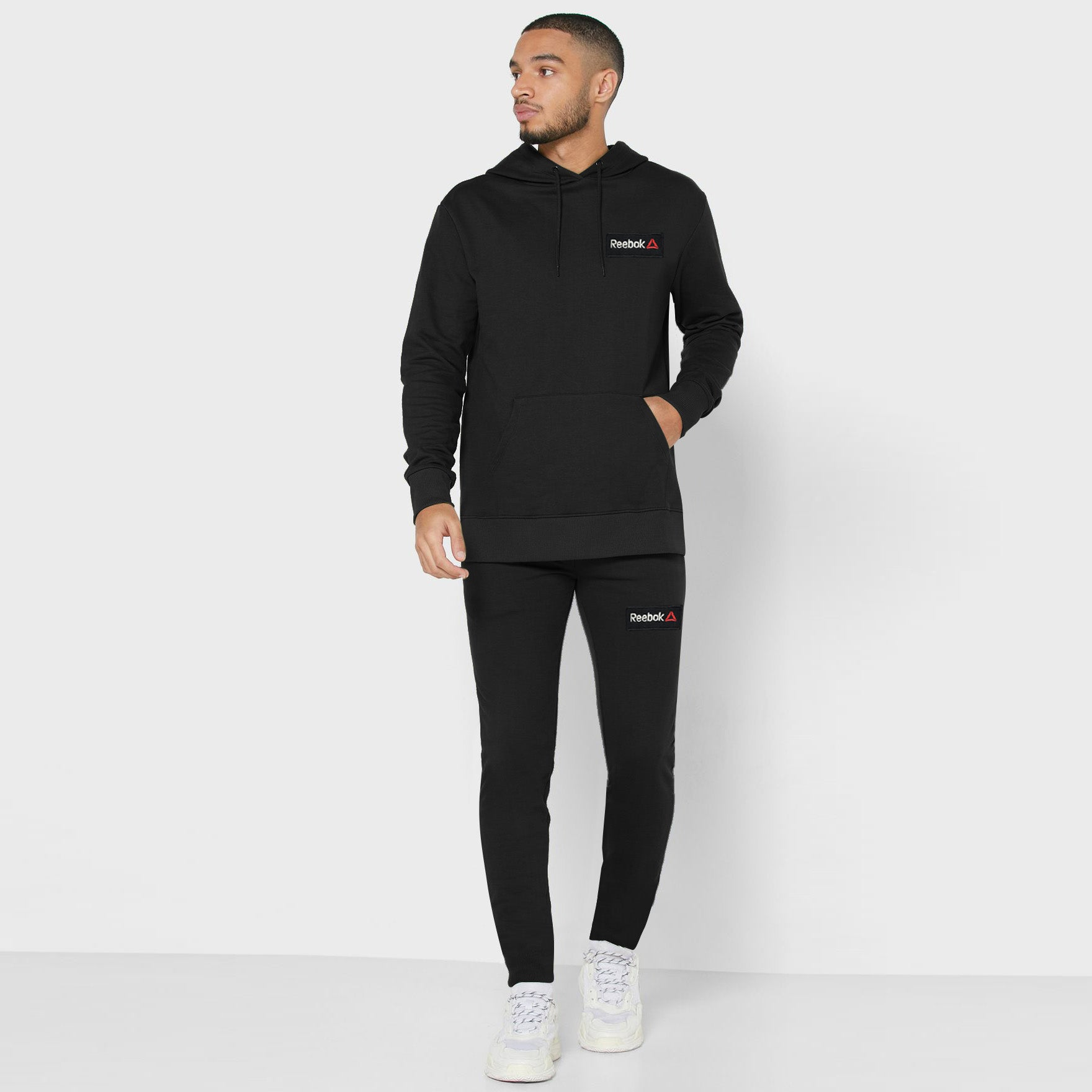 RB Regular Fit Fleece Pullover Track Suit For Men-Black-BE13251