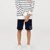 Reebok Terry Fleece Short For Boys-Dark Navy-BE7903
