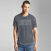 River Island Burnout Wash Short Sleeve Tee Shirt For Men-Grey-BE6574