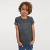 River Island Short Sleeve Tee Shirt For Boys-Charcoal Melange-BE8109