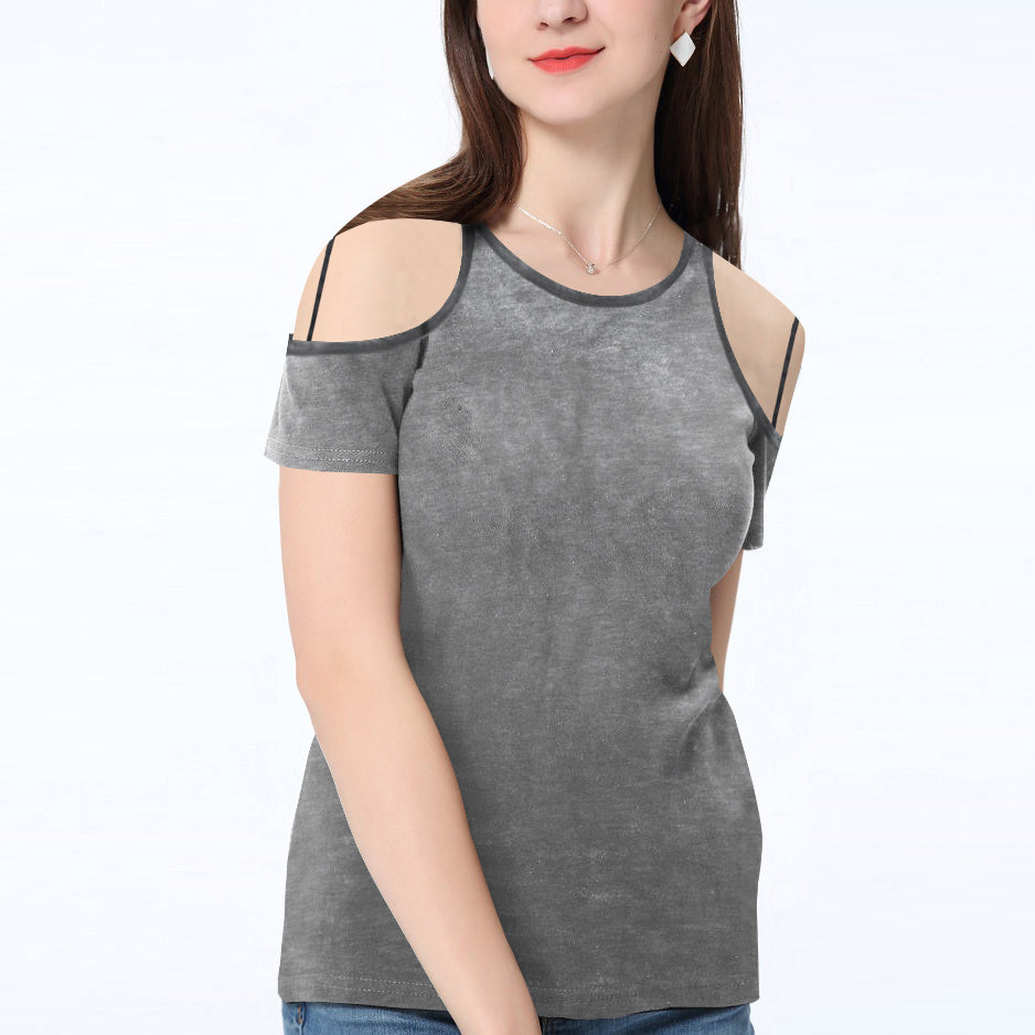 brandsego - River Island Shoulder less Burnout Blouse For Ladies-Charcoal-BE7417