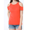 River Island Shoulder less Burnout Blouse For Ladies-Orange-BE7418