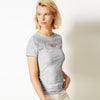 Roxy Half Sleeve Stylish Crew Neck Tee Shirt For Women-Grey Melange-BE8567