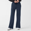 Zubaz Super Soft Single Jersey Wide Leg Sweatpant For Women-Navy-NA8631
