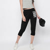 NYC Fleece Slim Fit 1/3 Capri For Ladies-Black-NA9931