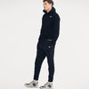 NK Slim Fit Pullover Fleece Track Suit For Men-Navy & White Embroidery-NA10159