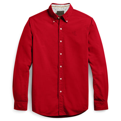 R2 Fitters Premium Slim Fit Stretch Casual Shirt For Men-Red-RCS92