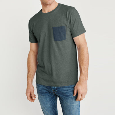 brandsego - Beverly Hills Crew Neck Pocket Style Tee Shirt For Men-BE8192