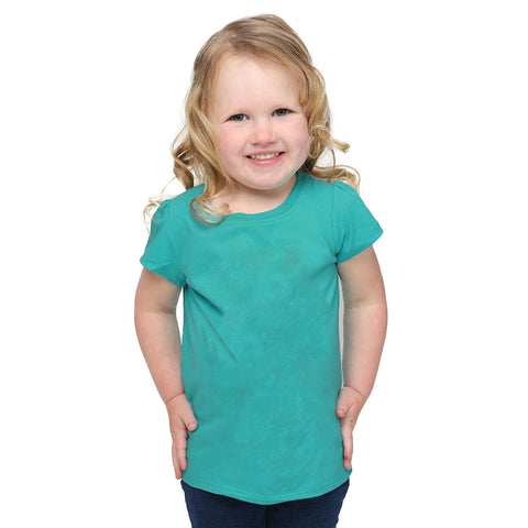 Fassion Crew Neck T Shirt For Kids -Ferozi-BE813