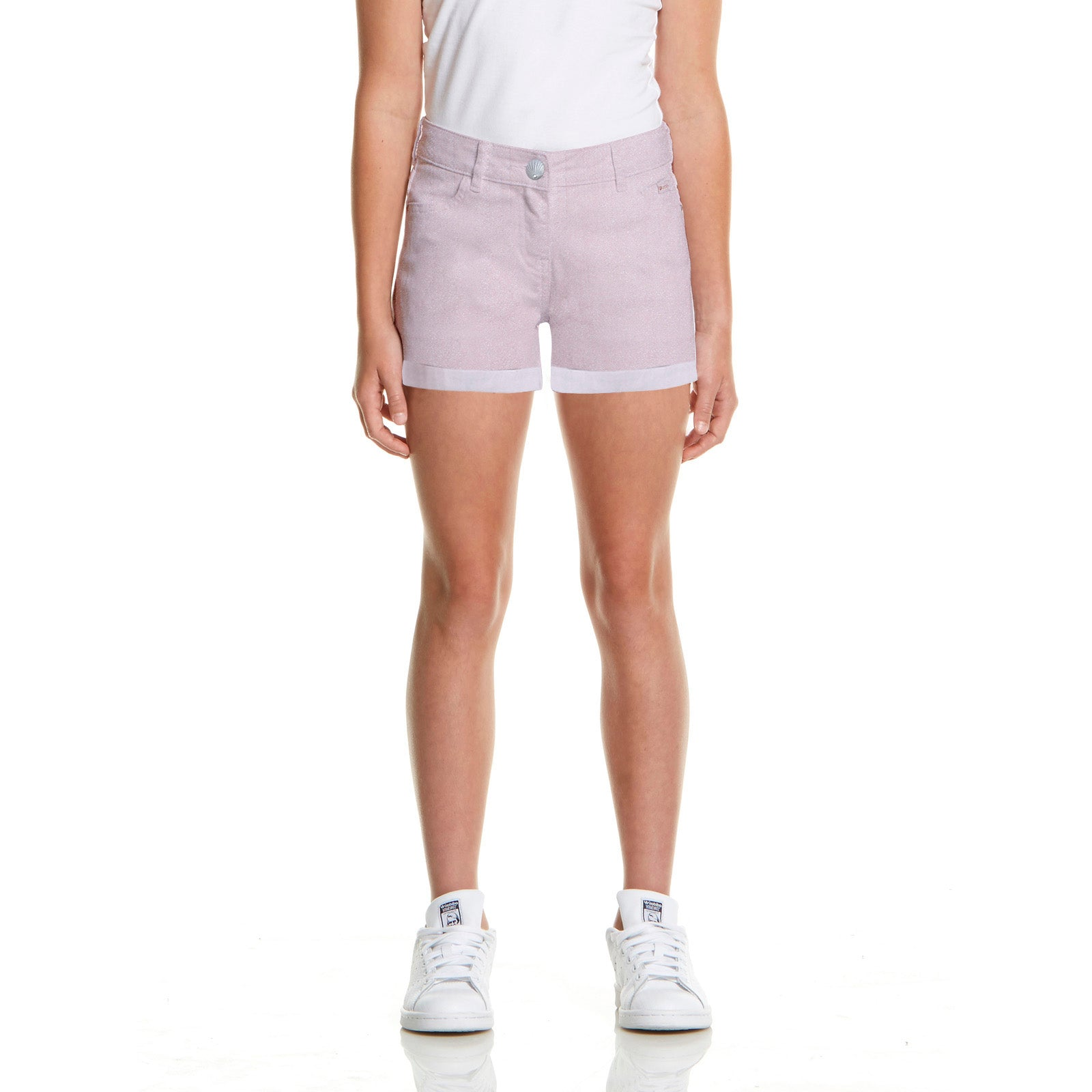 brandsego - SHORT Denim Short For Girls-Baby Pink-BE7071