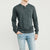 brandsego - Beverly Hills Single Jersey Long Sleeve Henley Tee Shirt For Men-BE8175