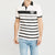 brandsego - Sneaker Freak Short Sleeve Single Jersey Polo Shirt For Men-Off White & Black Stripe-BE8414