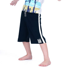 NEXT Fleece Short For Boys-Light Navy with White Stripe-BE2792
