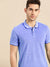 St Jhons's Bay Short Sleeve P.Q Polo Shirt For Men-Blue Melange-BE14610